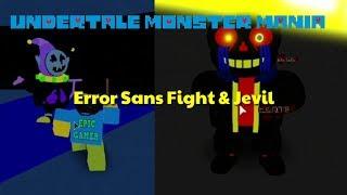 Fighting Error Sans & Jevil,Determined Frisk place (Undertale Monster Mania) thumbnail