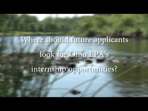 Ohio EPA's summer interns give their advice for future applicants