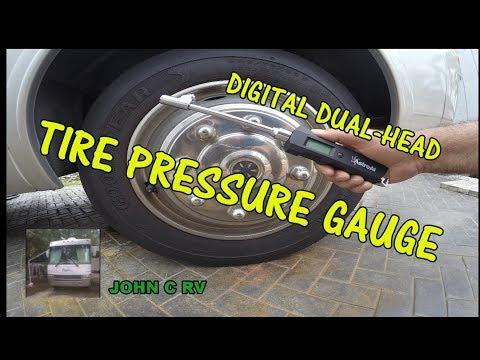 AstroAl DIGITAL DUAL HEAD TIRE PRESSURE GAUGE 180 LBS | RV | TRUCKS | CARS | REVIEW