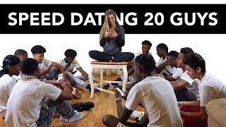 20 vs 1: Speed Dating 20 Guys | Brennan