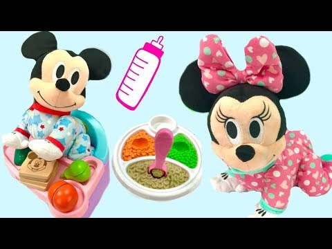 Fun with Disney Mickey and Minnie Mouse Musical Crawling Pals