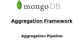 MongoDB - Aggregation Pipeline (intro) - YouTube