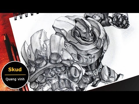 Vẽ Sukd quang vinh - Liên quân mobile (How to draw Skud Arena of Valor ) | Au tri art