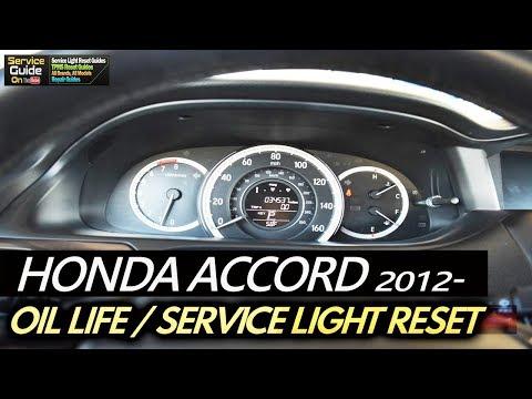 Honda Accord 2012- Service Light Reset / Oil Life Reset