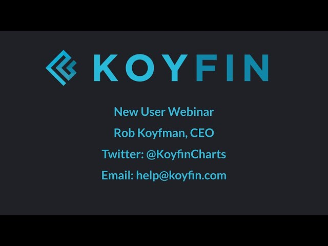 Koyfin Tutorial And Overview For New Users Koyfin is a financial data and analytics platform for researching stocks and understanding market what inspired you to start koyfin? koyfin tutorial and overview for new users