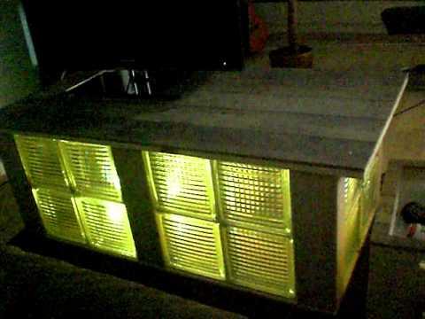 Bett selber bauen glasbausteine  selbstgebauter Tisch aus Glasbausteinen mit LED´s - YouTube