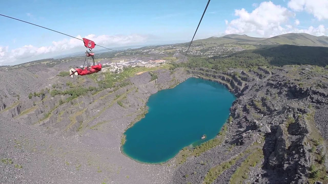 Zipworld Velocity Wales Gopro - YouTube