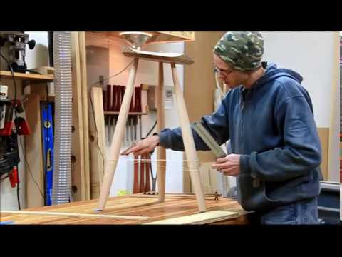 Build a Windsor Stool - Detailed Step by Step Stretcher Layout & Measuring