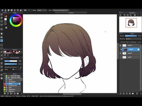 [Medibang Paint Pro Desktop Version How To] Easy Cel Shading Hair Color Tutorial