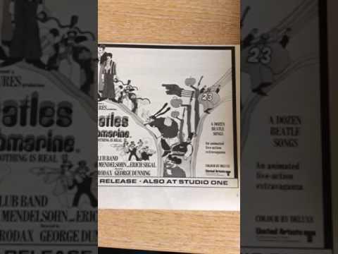 Vintage ephemera 1968 advert for the beatles yellow submarine film