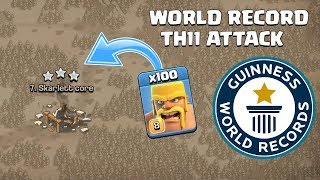 I DID IT ! 100 Barbarian TH11 War Attack   Clash of Clans