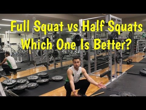 Full Squats VS Half Squats: Which one is better?