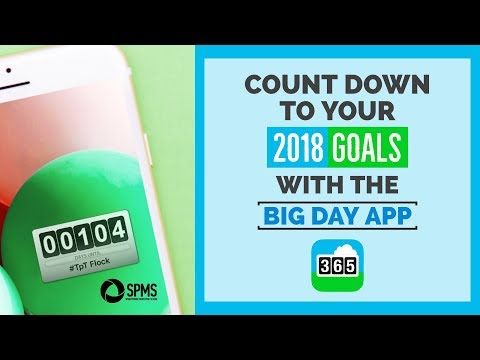 BEST Countdown App For Your 2018 Goals
