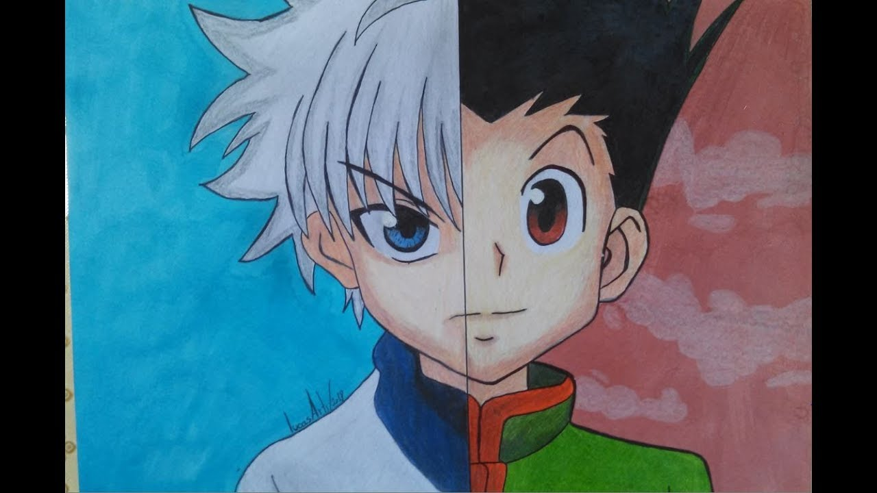 Speed Drawing Killua Gon Desenhando Killua Gon Youtube
