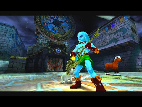 Clock Town and Gerudo Valley theme played on Majoras Mask 3D Zora Link