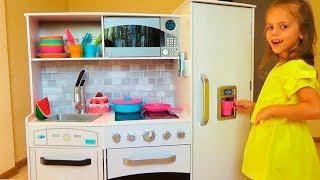 Детская КУХНЯ Игровой набор Pretend play Распаковка и обзор Kitchen for children Игры для детей