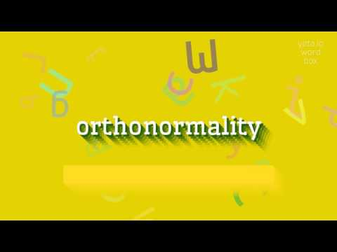 "How to say ""orthonormality""! (High Quality Voices)"