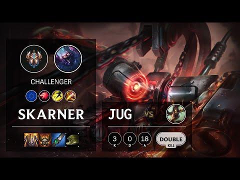 Skarner Jungle vs Nidalee - EUW Challenger Patch 10.21