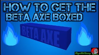 COMO obter BETA AXE in a box Lumber Tycoon 2 Roblox