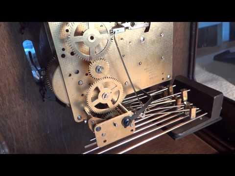 Demo of HOWARD MILLER TRIPLE CHIME  MANTLE CLOCK MODEL #4998