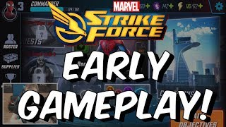 Marvel Strike Force Early Gameplay - Free To Play Android/IOS Game 2018