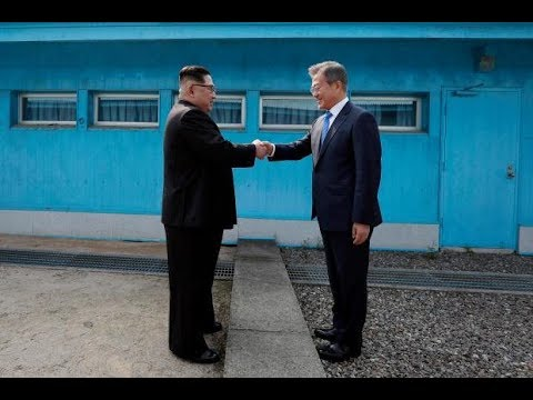 North and South Korea Leaders Meet and have agreed to the complete denuclearisation of the peninsula
