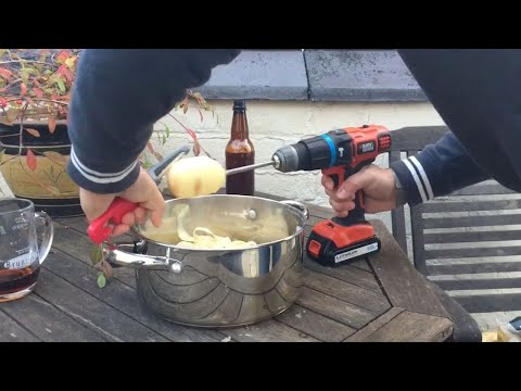 Clever Hack Uses Drill To Peel Potatoes