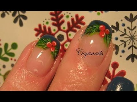 Nail art christmas mistletoe youtube prinsesfo Image collections