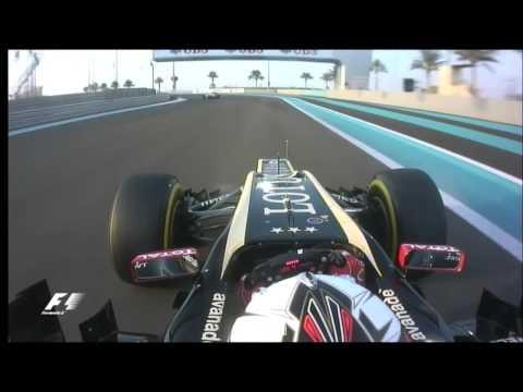 Kimi Raikkonen Abu Dhabi 2012 start
