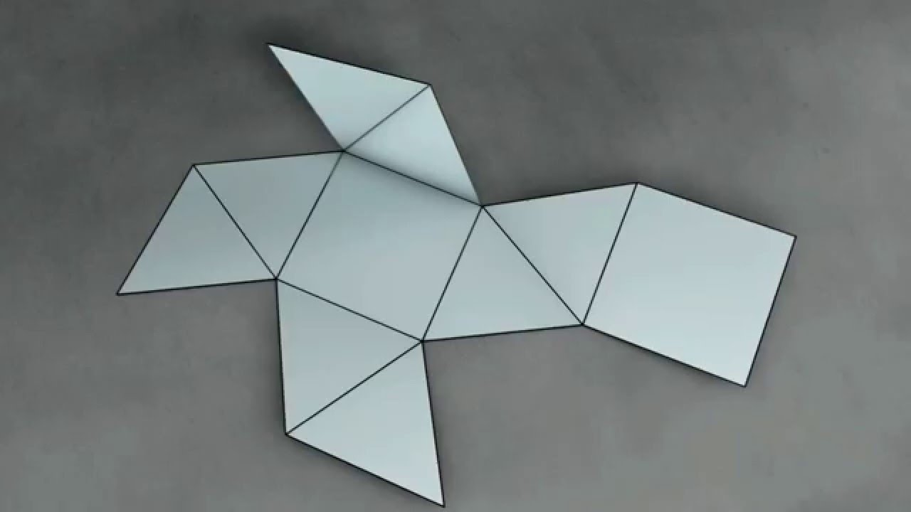 Make 3d solid shapes square antiprism How to make 3d shapes