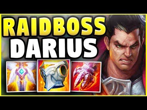 NEW RAIDBOSS DARIUS! THIS BUILD MAKES DARIUS UNKILLABLE! (GOD-MODE BUILD) - League Of Legends