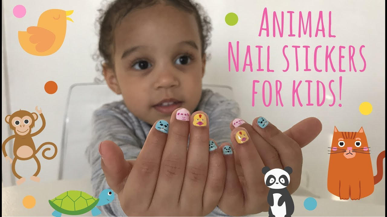 Easy Nail Stickers for Kids | Fun - YouTube