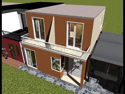 Casa de 6 x 10 20 50 94 m urbanizaci n doovi for Casa moderna minimalista 6 00 m x 12 50 m 220 m2