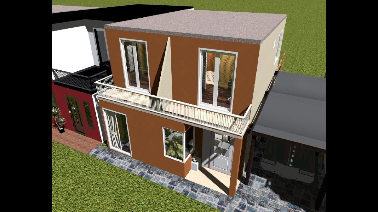 Casa 6 x 8 mts house 6x8 mts youtube for Diseno de apartamento de 4x8 mts