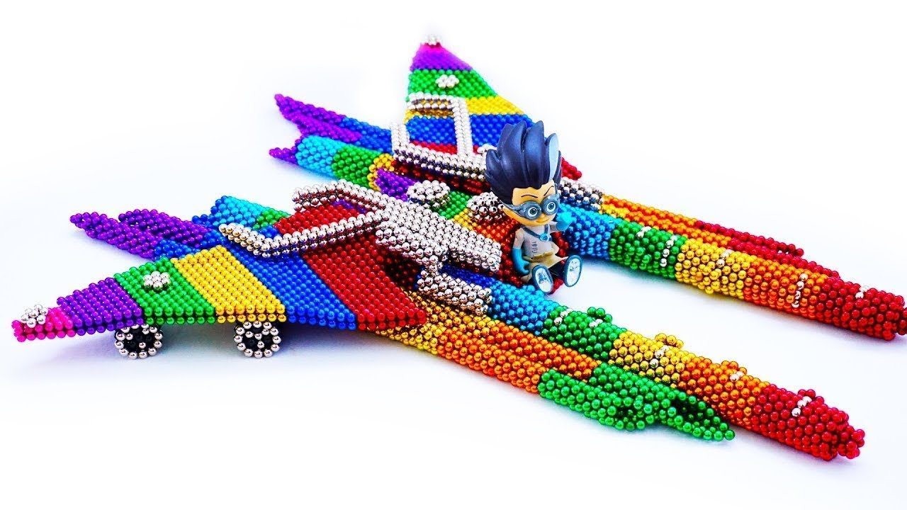 DIY - How To Build Magnetic Balls Romeo's Jet Plane - Amazing Video Magnetic Game Saticfation