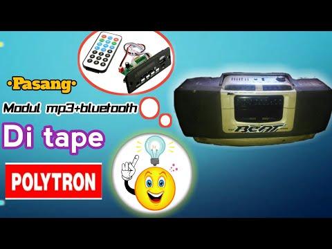 Cara pasang modul mp3+bluetooth di Tape polytron grand bazzoke