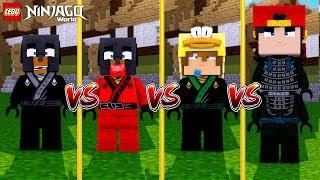 Minecraft LEGO NINJAGO  - COLE (Donut) VS LLYOD (Baby Duck) VS KAI (Baby Max) VS LORD GARMADON(Ropo)