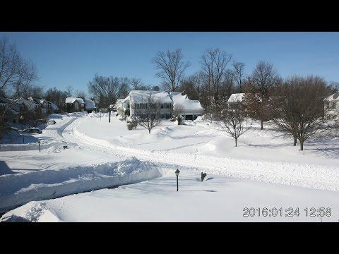 East Coast Snowstorm Time Lapse 22 - 24 January 2016