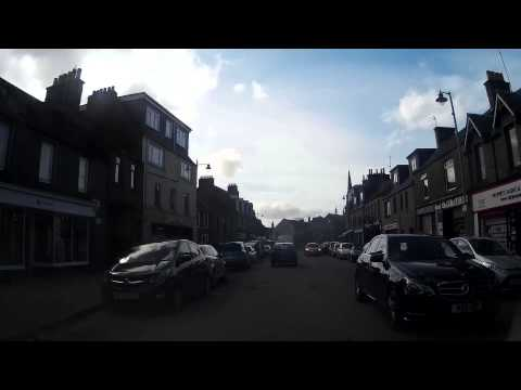 Driving Through Forfar Angus Scotland