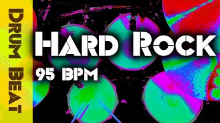 Hard Rock Drum Beat 95 BPM - Drums Only Backing Track