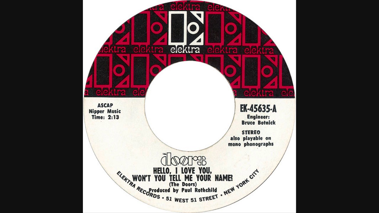 The Doors - Hello I Love You Won\u0027t You Tell Me Your Name (Short Mono)  sc 1 st  YouTube & The Doors - Hello I Love You Won\u0027t You Tell Me Your Name (Short ...