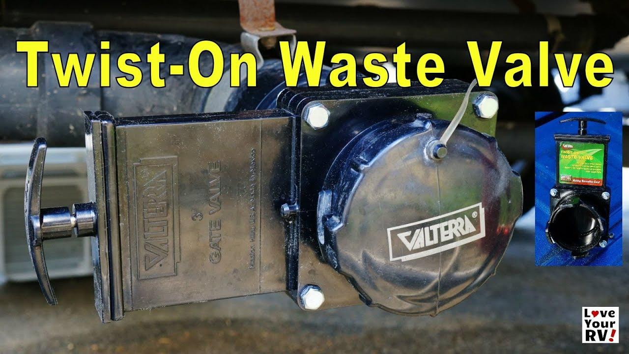 Neat Rv Sewer Tip Twist On Gate Valve Youtube