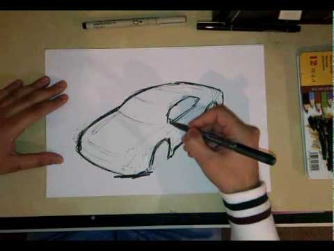 3d Car Sketch Made Easy Youtube