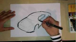 3D Car sketch made easy.