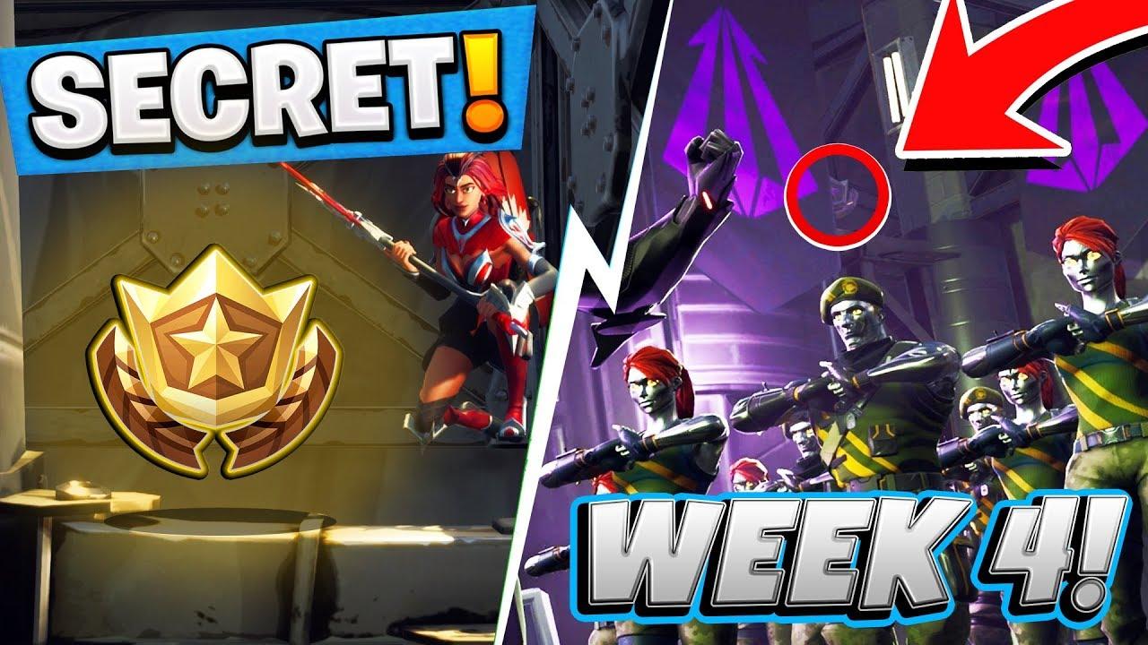 Fortnite Season 4 Week 4 Hidden Battlestar Location Free Battle