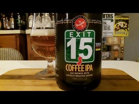 Flying Fish Brewing Co. Exit 15 Coffee IPA (7.5% ABV) DJs BrewTube Beer Review #868