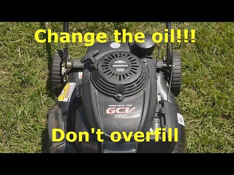 Changing the oil in your Honda GCV 160 lawn mower engine