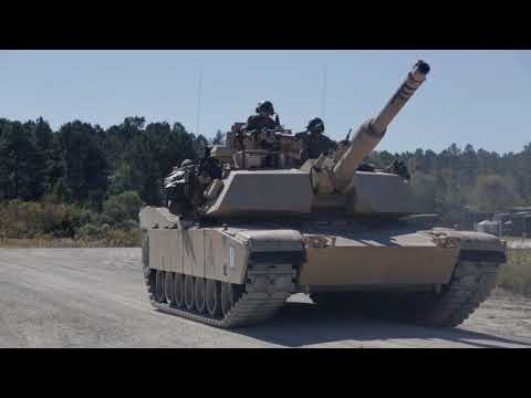 Bringing the Fire: U.S. Marines, French Army Tanks Execute Tank Battle Drills (Lower Thirds)