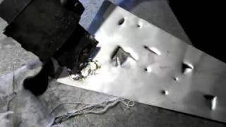 запайка отверстий на нержавейки и пайка бензобака, установка заплаток
