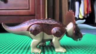 lego Trex vs Triceratops
